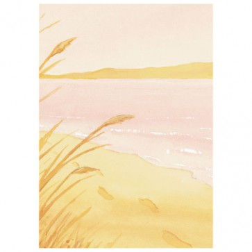 Footprints in the Sand (Pink)