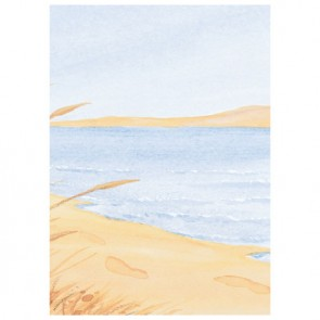 Footprints In The Sand (Blue) Perforated Bookmarks