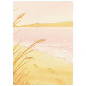 Footprints In The Sand (Pink) Perforated Bookmarks