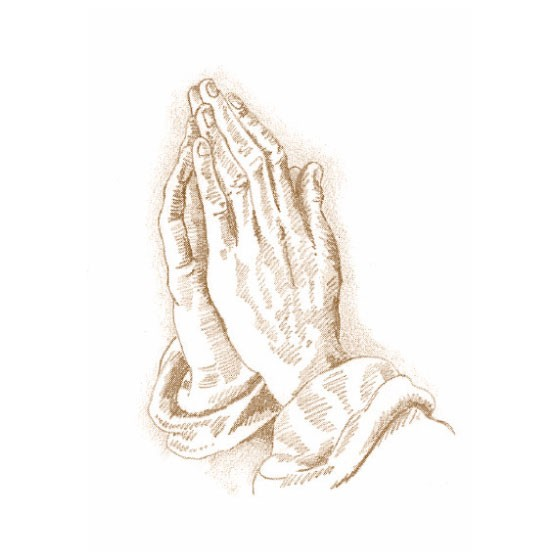 traditional praying hands thermalgraphics