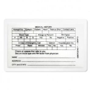 Pre-Need ID Card w/Pouch