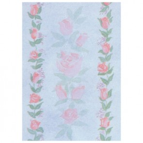 Rose Bouquet Border Perforated Bookmarks